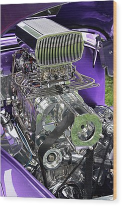 All Chromed Engine With Blower Wood Print