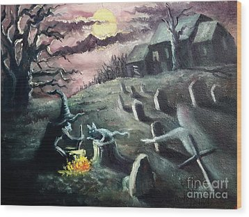 All Hallow's Eve Wood Print by Randy Burns