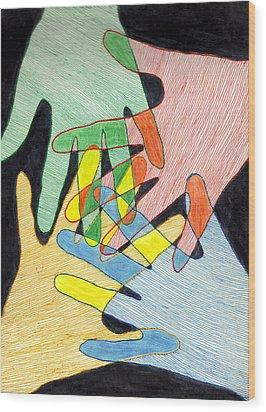 All In Wood Print by Jean Haynes