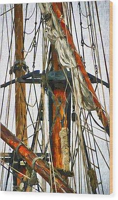 All Masts Wood Print