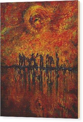 All Of Them Wood Print by David Grudniski