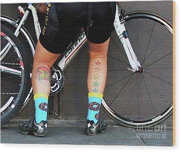 Wood Print featuring the photograph All Star Cyclist by Joe Jake Pratt