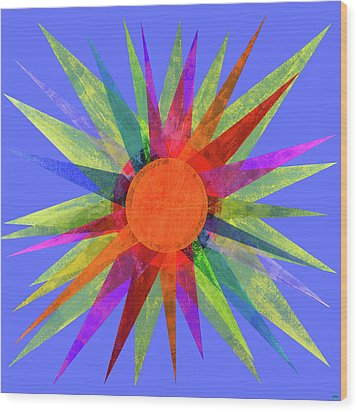 All The Colors In The Sun Wood Print