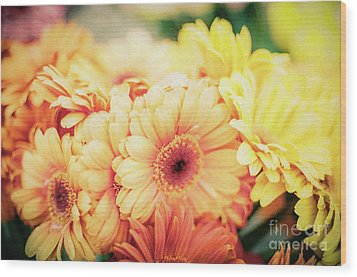 Wood Print featuring the photograph All The Daisies by Ana V Ramirez