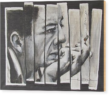 All Together Johnny Cash Wood Print by Eric Dee