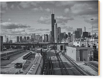 All Tracks Lead To Chicago Wood Print by Sheryl Thomas