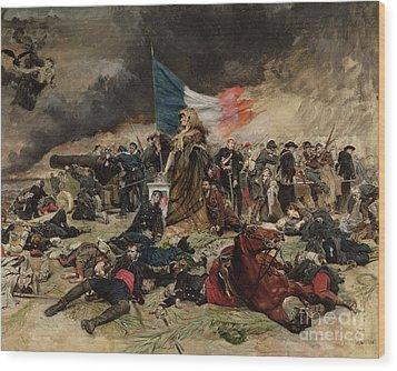 Allegory Of The Siege Of Paris Wood Print by Jean Louis Ernest Meissonier