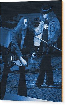 Allen Collins And Ronnie Van Zant Same Old Winterland Blues Wood Print