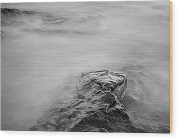 Wood Print featuring the photograph Allens Pond Xii Bw by David Gordon
