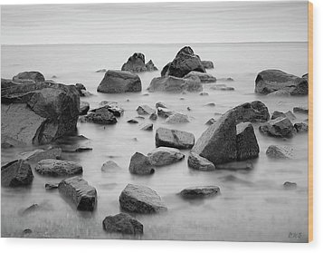 Wood Print featuring the photograph Allens Pond Xiv Bw by David Gordon