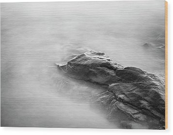 Allens Pond Xv Bw Wood Print by David Gordon