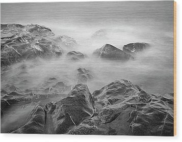 Allens Pond Xvi Bw Wood Print by David Gordon