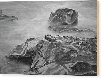 Wood Print featuring the photograph Allens Pond Xvii Bw by David Gordon