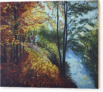 Alley By The Lake 1 Wood Print by Harsh Malik