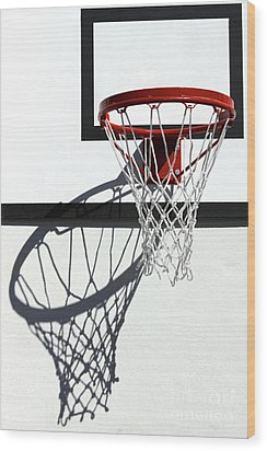 Wood Print featuring the photograph Alley Hoop by Stephen Mitchell