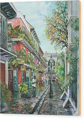 Alley Jazz Wood Print by Dianne Parks