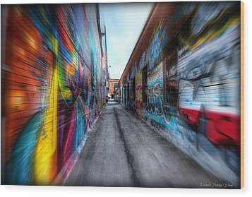 Wood Print featuring the photograph Alley by Michaela Preston