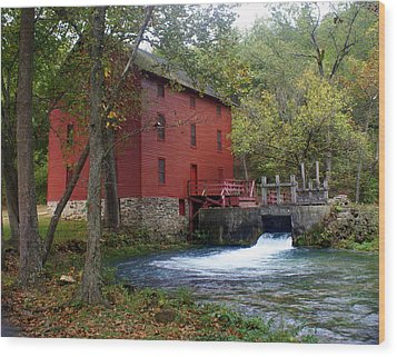 Alley Sprng Mill 3 Wood Print by Marty Koch