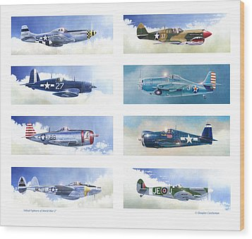 Allied Fighters Of The Second World War Wood Print by Douglas Castleman