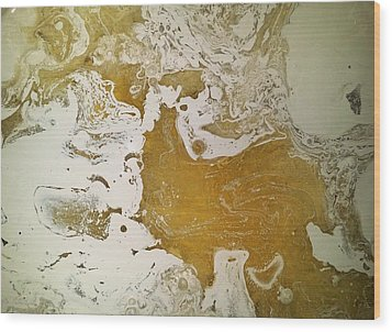 Alligator Head Amber Backflip Wood Print