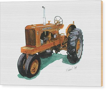 Allis Chalmers Tractor Wood Print by Ferrel Cordle