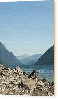 Allouette Lake Wood Print by Emilio Lovisa