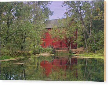 Allsy Sprng Mill 2 Wood Print by Marty Koch