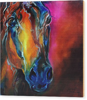 Allure Arabian Wood Print by Marcia Baldwin