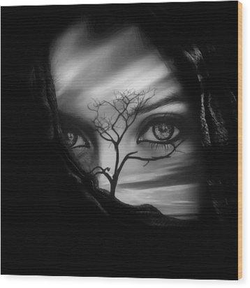 Allure Of Arabia Black Wood Print