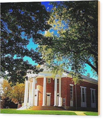 Alma College Dunning Memorial Chapel Wood Print