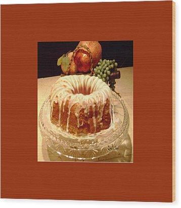 Almond Cheese Pound Cake Wood Print