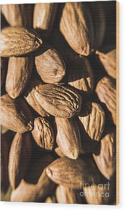 Wood Print featuring the photograph Almond Nuts by Jorgo Photography - Wall Art Gallery