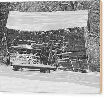 Almost Done Wood Print by Alan Raasch