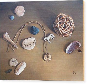 Almost Forgotten Memories Wood Print by Elena Kolotusha