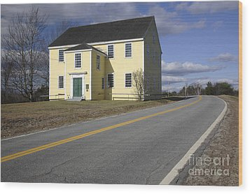 Alna Meetinghouse - Alna Maine Usa Wood Print by Erin Paul Donovan