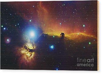 Alnitak Region In Orion Flame Nebula Wood Print by Filipe Alves