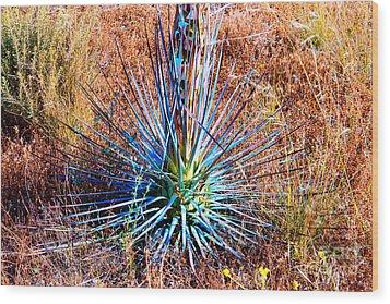 Aloe Vera In Meadow Wood Print by Mariola Bitner
