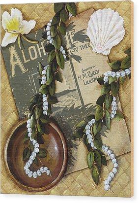 Aloha Oe Wood Print by Sandra Blazel - Printscapes