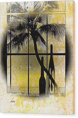 Wood Print featuring the photograph Aloha,from The Island by Athala Carole Bruckner