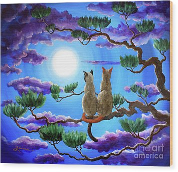 Alone In The Treetops Wood Print by Laura Iverson