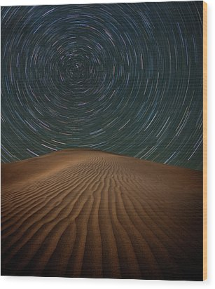 Wood Print featuring the photograph Alone On The Dunes by Darren White