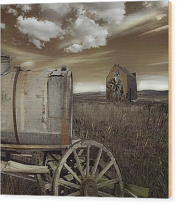 Alone On The Plains Wood Print by Jeff Burgess