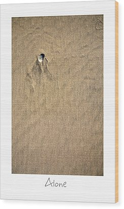 Alone Wood Print by Peter Tellone