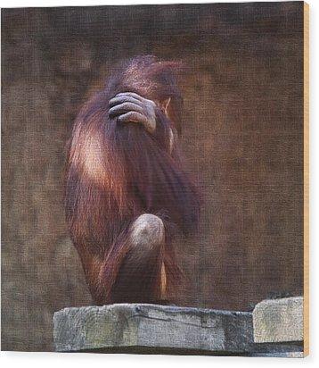 Alone Wood Print by Sharon Jones