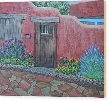 Along Canyon Road Wood Print