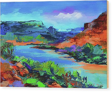 Along Colorado River - Utah Wood Print