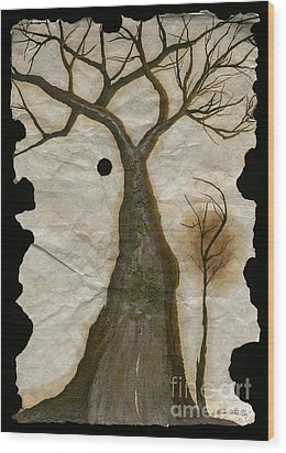 Along The Crumbling Fork In The Road Of The Tree Of Life Acfrtl Wood Print by Talisa Hartley