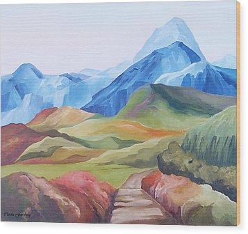 Alp Landscape Wood Print by Carola Ann-Margret Forsberg