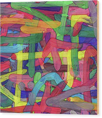 Alphabet Soup Wood Print by Coded Images