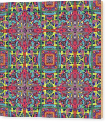 Alphabet Soup -multi-pattern- Wood Print